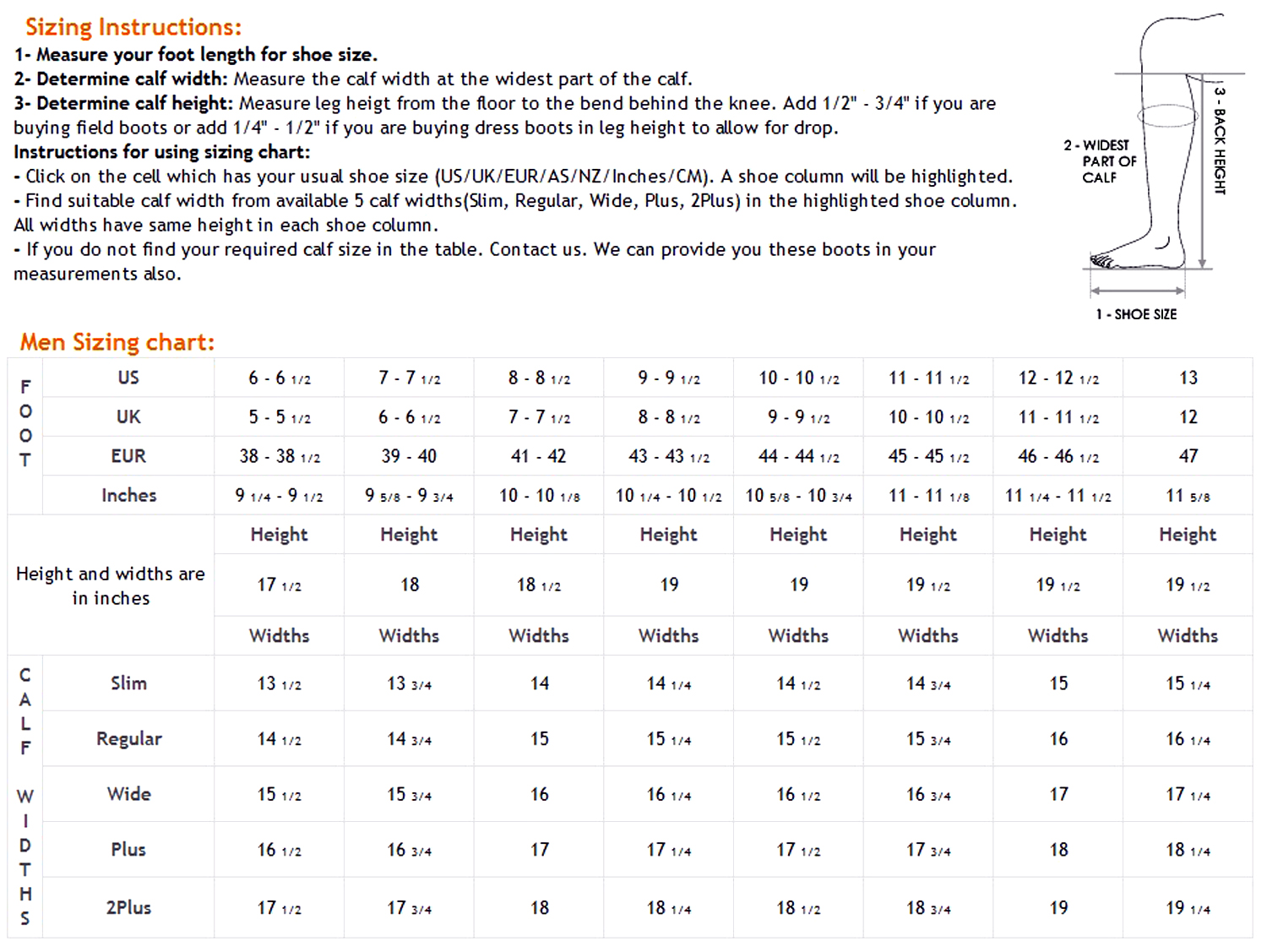mens boot sizing chart 28 images shoe size chart shoes